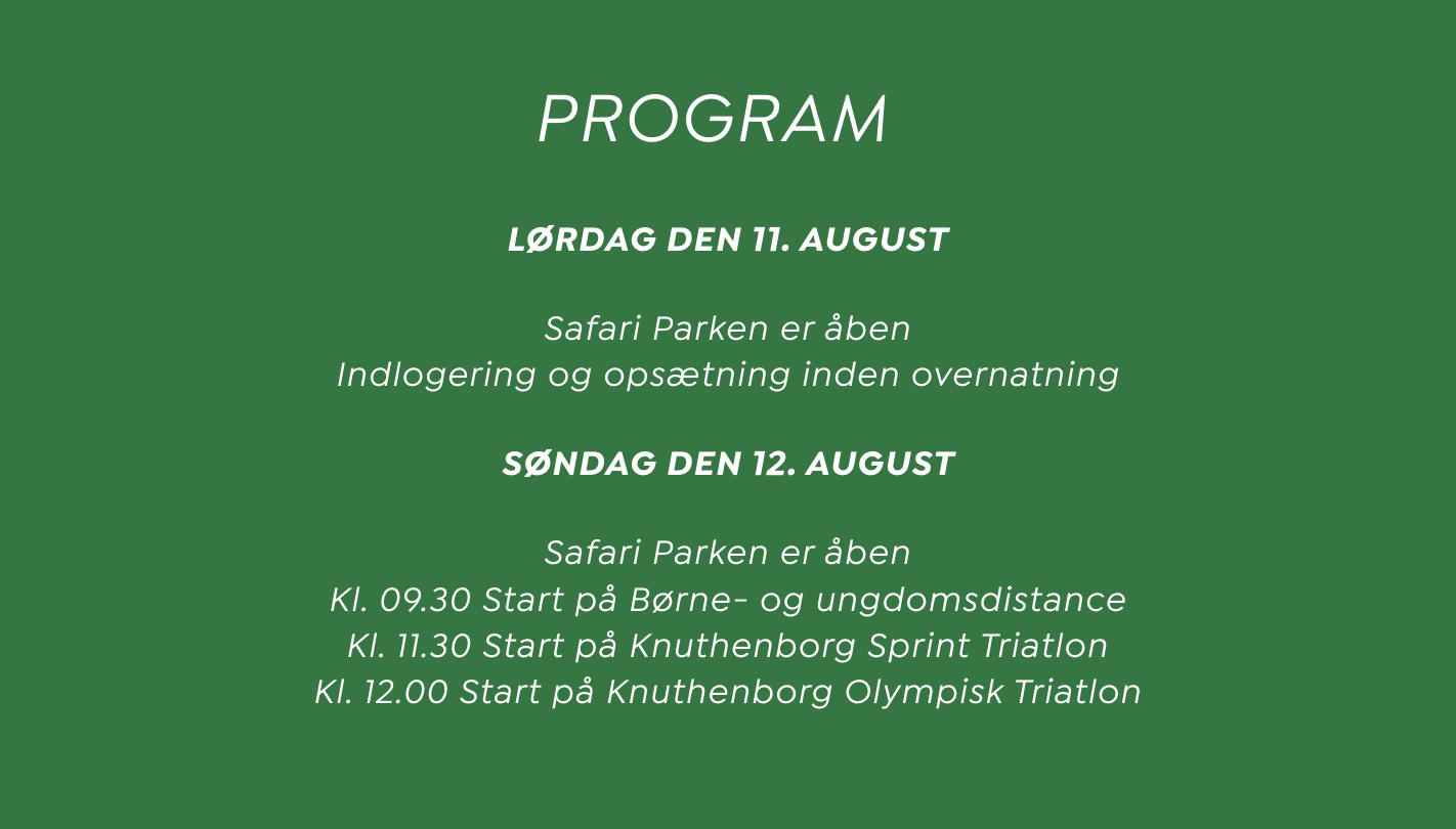 Sportstiming Knuthenborg Safari Triatlon 2018